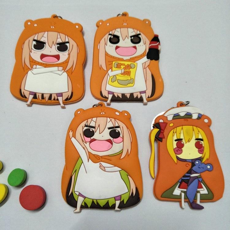Himouto! Umaru-chan Double-Side Soft Rubber Keychain Doma Umaru Pendant Keychain Anime Halloween Christmas New Year Holiday Gift