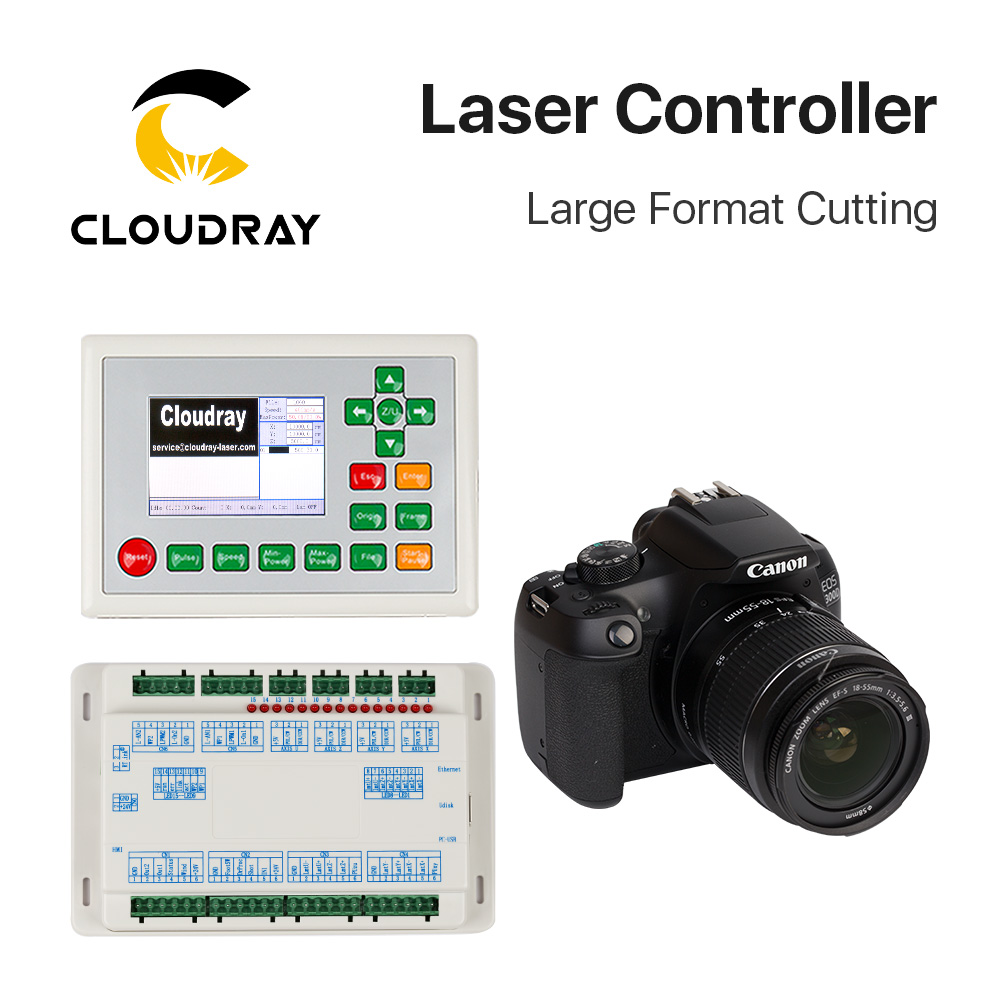 Cloudray CO2 RDC6442G-DFM-RD para 10600nm 10.6um Laser Controlador de Grande Formato De Corte Máquina de Corte Da Gravura