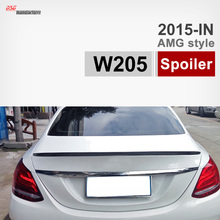 Mercedes W205 Углеродного Волокна Спойлер Багажника Крыло Автомобиля для Benz 2015 + C180 C200 C220 C300 C250 AMG Стиль Черный