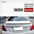 Mercedes W205 da Asa Do Carro de Fibra De Carbono Tronco Spoiler para o Benz 2015 + C180 C200 C220 C250 C300 AMG Estilo Preto