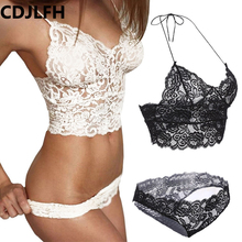 CDJLFH Black Women Intimates Vest Ladies Underwear Bralette Plus Size Brassiere Lace Bra Top Seamless Bra Sexy Lace Bra Women