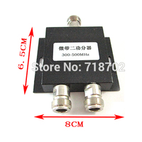 Free Shipping 5pcs 300 500Mhz 2 Ways RF Power Splitter With N Female Connector CDMA Driver