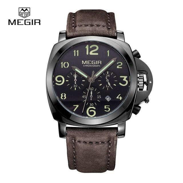MEGIR Cuarzo de Los Hombres Relojes de Pulsera Del Deporte Con Luminoso y A Prueba de agua Reloj relogio masculino relojes 3406