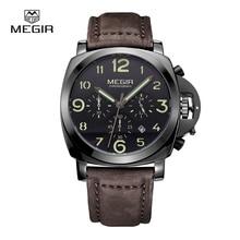 MEGIR Relógios de Quartzo dos homens Do Esporte Relógio de Pulso Com Luminoso e À Prova D' Água relogio masculino relojes 3406