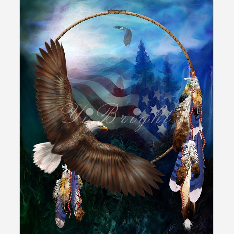 5D DIY Diamond Painting Freedom's Flight_PWD Cross Stitch Needlework Home Decorative Full Square ANIMAL Diamond Embroidery LRR