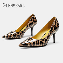 Women High Heels Party Shoes Sexy Leopard Print Spring Pumps Woman Pointed Toe Slip On Thin Heels Female Dress Shoes Plus SizeDE enmayer summer plus sizewomen pumps high heels stilleto pointed toe slip on sexy shoes women slip on party platform purple shoes