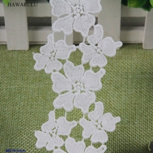 HAWARULU 2yard DIY Barcode water-soluble embroidery lace fabric computer clothing accessories wedding decoration
