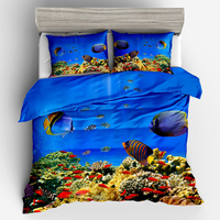 Deep Ocean Animal No PS Real 3D Luxury Bedding Duvet Cover Set Pillowcase Kids Touched Twin