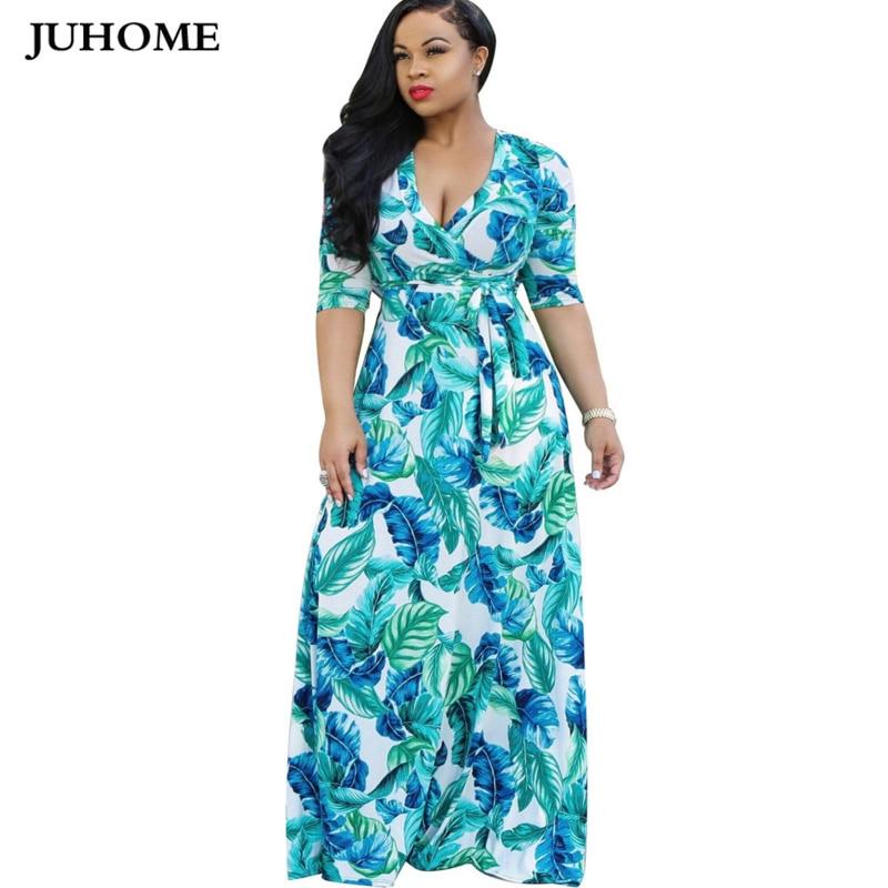 54c613f07 Mujeres Boho Maxi vestido 2018 nuevo estilo de otoño estampado floral  vestido largo femenino hasta ...