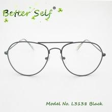 Better Self L3138 Metal Spectacle Frames Slim Pilot Mens Eyeglasses Full Rim Myopia Glasses