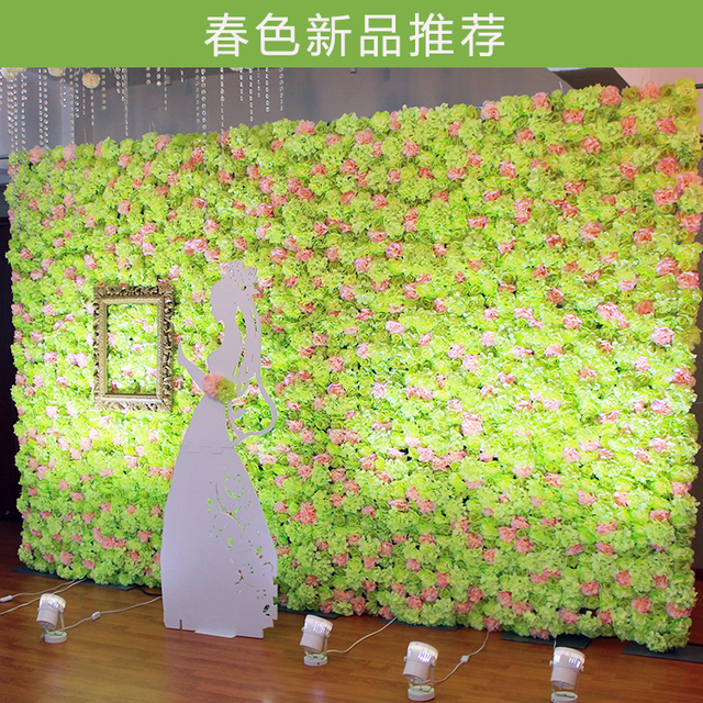 10pcs Lot Artificial Silk Peony With Hydrangea Flower Wall Wedding Background Decor Home Decoration