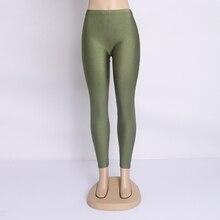 Plus Size Fluorescent Color Women Leggings