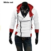 2016 Assassins Creed Jacket Fashion Hoodies Men Casual Sportswear Male Hoody Long Sleeve Sweatshirt Jacket Plus