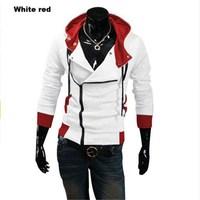 2016 Assassins Creed Jacket Fashion Hoodies Men Casual Sportswear Male Hoody Long Sleeve Sweatshirt Jacket Plus