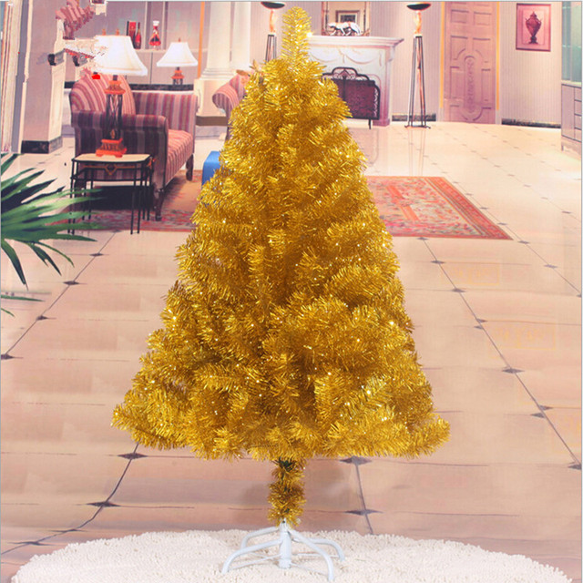 Christmas tree factory outlets 1.2 m / 120CM golden Christmas tree ...