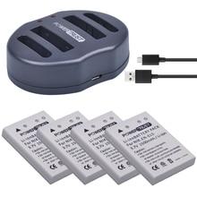 4 шт. EN-EL5 ENEL5 Батареи для камеры + Dual USB Зарядное устройство для Nikon Coolpix P530 P520 P510 P100 P500 P5000 P5100 P6000 3700 4200