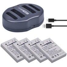 4 Stks EN-EL5 ENEL5 Camera Batterij + Dual USB Lader voor NIKON Coolpix P530 P520 P510 P100 P500 P5000 P5100 P6000 3700 4200