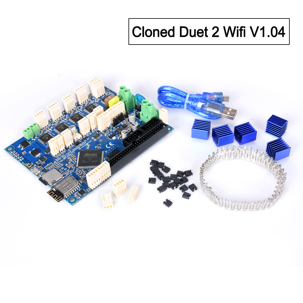 Cloned Duet 2 Wifi V1.04 Upgrades Controller Board Cloned DuetWifi Advanced 32 Bit Motherboard For 3D Printer CNC Machine