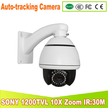 YUNSYE mini high outdoor Auto -tracking Speed Dome ir:25m 1/3 sony CCD 1200tvl 10X speed dome camera PTZ