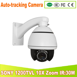 YUNSYE mini high outdoor Auto -tracking Speed Dome ir:25m 1/3 sony CCD 1200tvl 10X speed dome camera Auto -tracking PTZ camera