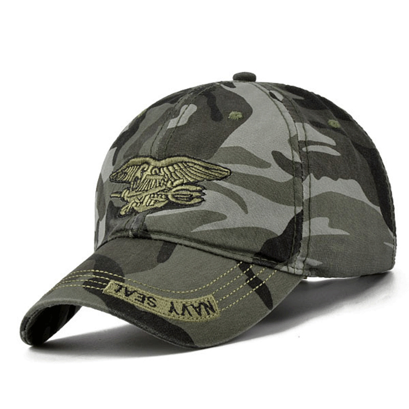 New Men Navy Seal hat Top Quality Army green Snapback Caps Hunting Fishing Hat Outdoor Camo Baseball Caps Adjustable golf hats