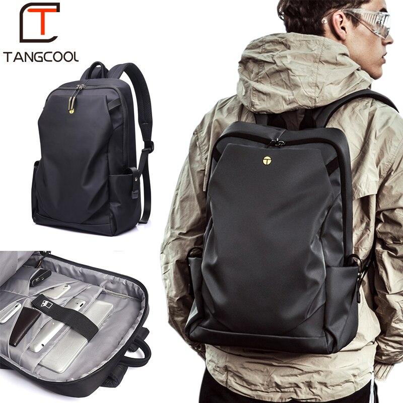 Tangcool Men Fashion Backpack 15 inch Laptop Backpack Men Waterproof Travel Outdoor Backpack School Teenage backpack Mochila hoodie