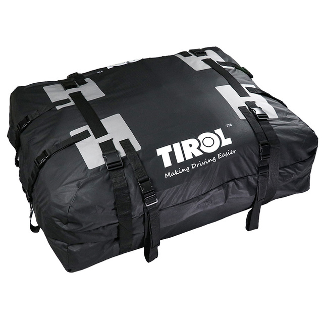 Tirol Waterproof Roof Top Carrier Cargo Luggage Travel Bag 15 Cubic Feet For Vehicles With