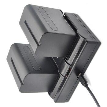 7200mAh 2Pcs NP-F970 NP F960 NP F960 F970 Batteries+ Dual USB Charger for Sony NP-F550 NP-F770 NP-F750 F960 F970 CCD-RV100 TRV5 фото