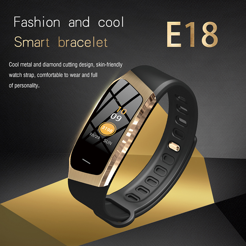 Charitable Rollstimi E18 Fitness Tracker Smart Bracelet Heart Rate Moniter Smart Wristband Smart Watch Waterproof Sport Bluetooth Watch Man Wide Selection; Digital Watches