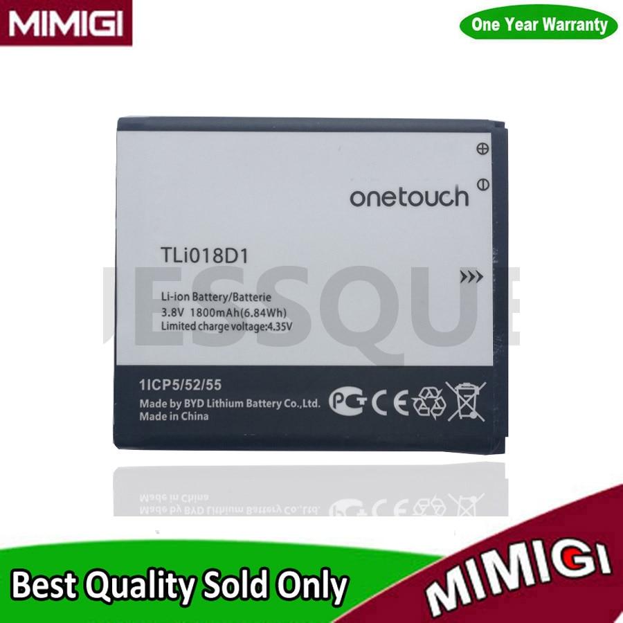 JESSQUE 1800 mAh TLi018D1 Batterie Pour Alcatel One Touch Pop D5 double 5038x OT5038X Pop 3 5015D OT 5016 Bateria Batterij AKKU