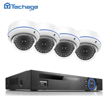 Techage 4CH 8CH 1080P POE NVR DVR 2.0MP CCTV System Vandalproof Dome IP Indoor Camera P2P Waterproof Security Surveillance Kit
