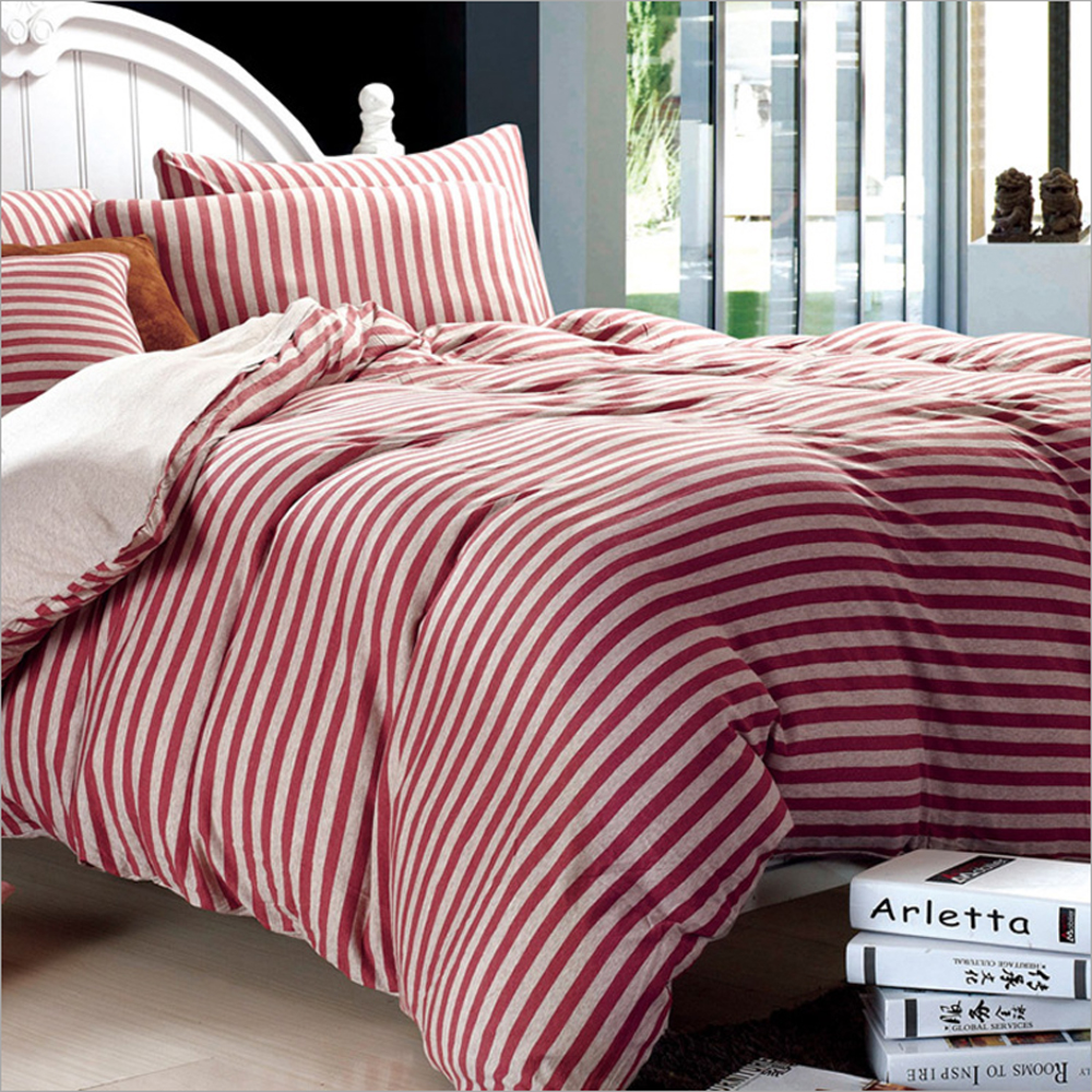 Black and pink bed sheets - Brownish Red Gray Black Stripes Pattern Duvet Cover Bed Sheet Set Xinjiang Cotton Fabrics