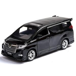 Image 3 - Squisito regalo 1:32 Hong Kong alphard modello di auto in lega, simulazione die cast suono e luce posteriore forza SUV modello, trasporto libero