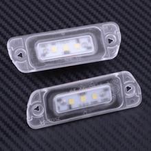 Beler 2 stks Fout Gratis LED Kentekenverlichting A2518200166 Fit voor Mercedes X164 W164 W251 GL ML R Klasse 2006 2012