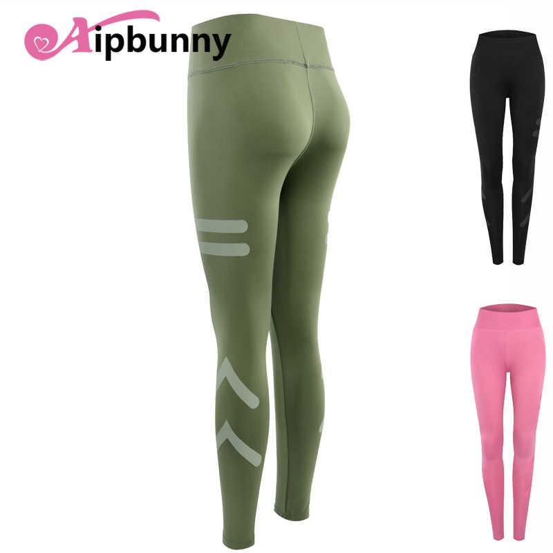 040eb49a43 Aipbuuny High Waist Women's Sport Fitness lulu Yoga Pants Elastic Push up  Breathable Cool Dry Running