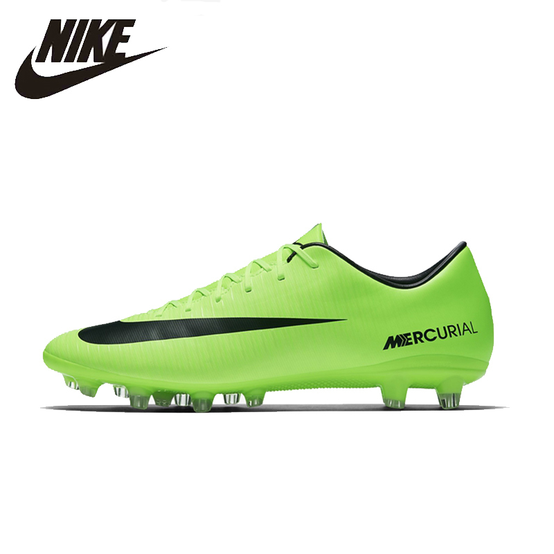NIKE MERCURIAL VICTORY AG Mens Soccer Shoes Breathable Footwear Super Light Support Sports Sneakers For Men Football Shoes бутсы nike mercurial victory tf 10 651646 800