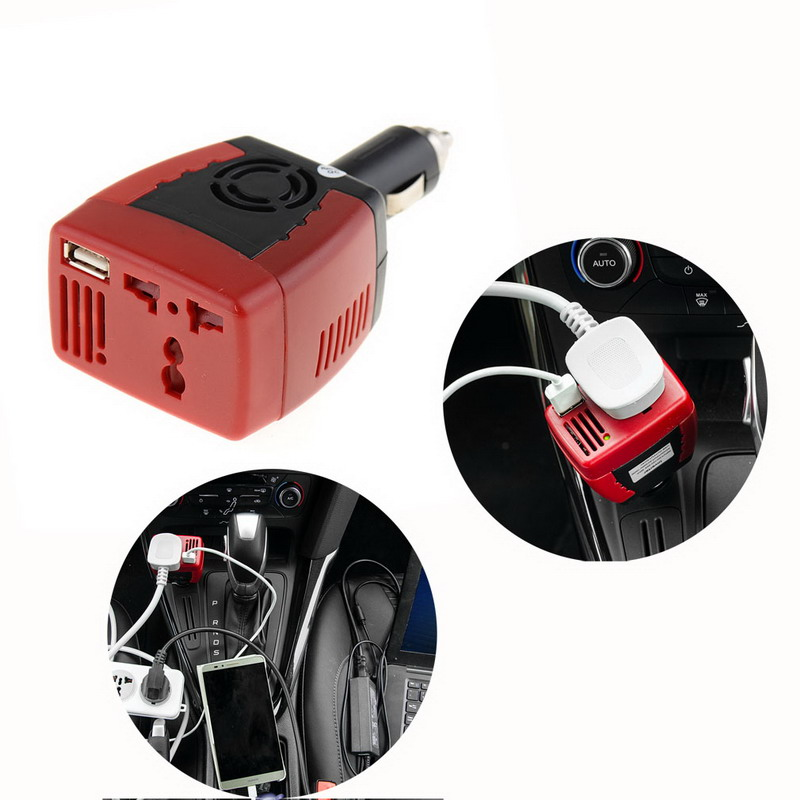 1 PC DC TO AC 150W Main Car Power Inverter Converter Charger for Mobile Laptop VEK02 T50