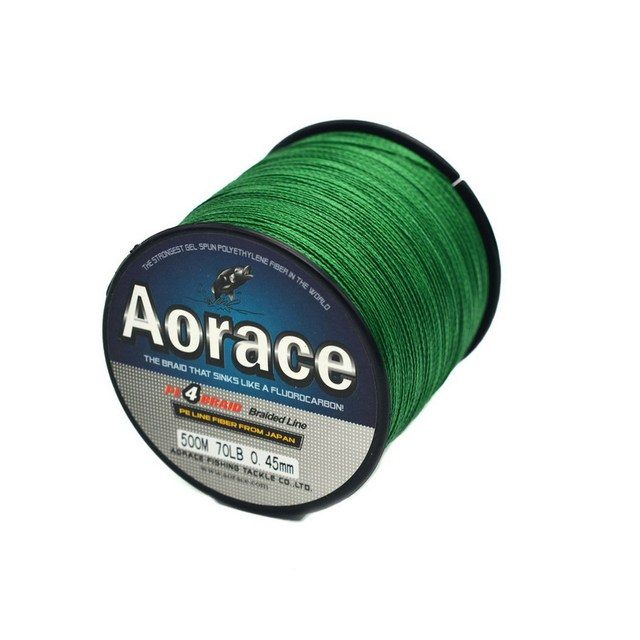 4 Strands 500M PE Braided Fishing Line Multifilament Wire Leader Rope Line For Sea Fishing 8 10 20 30 40 60 LB Thread Backing