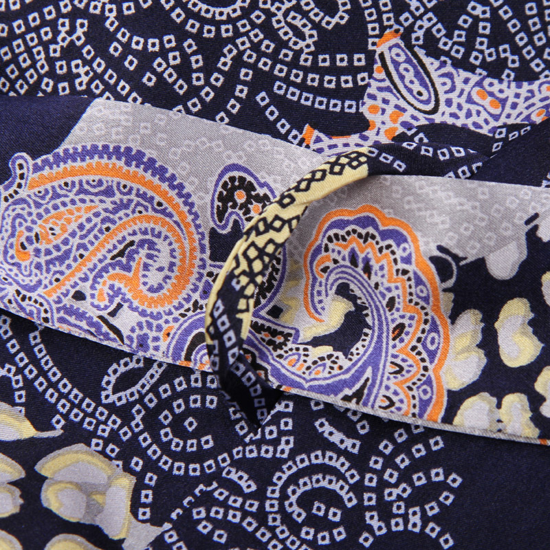 Genuine Silk Sleeping Robes Male Spring Summer Long-Sleeve Fashion Printed Bathrobe Kimono Silkworm Silk Men's Sleepwear 2519