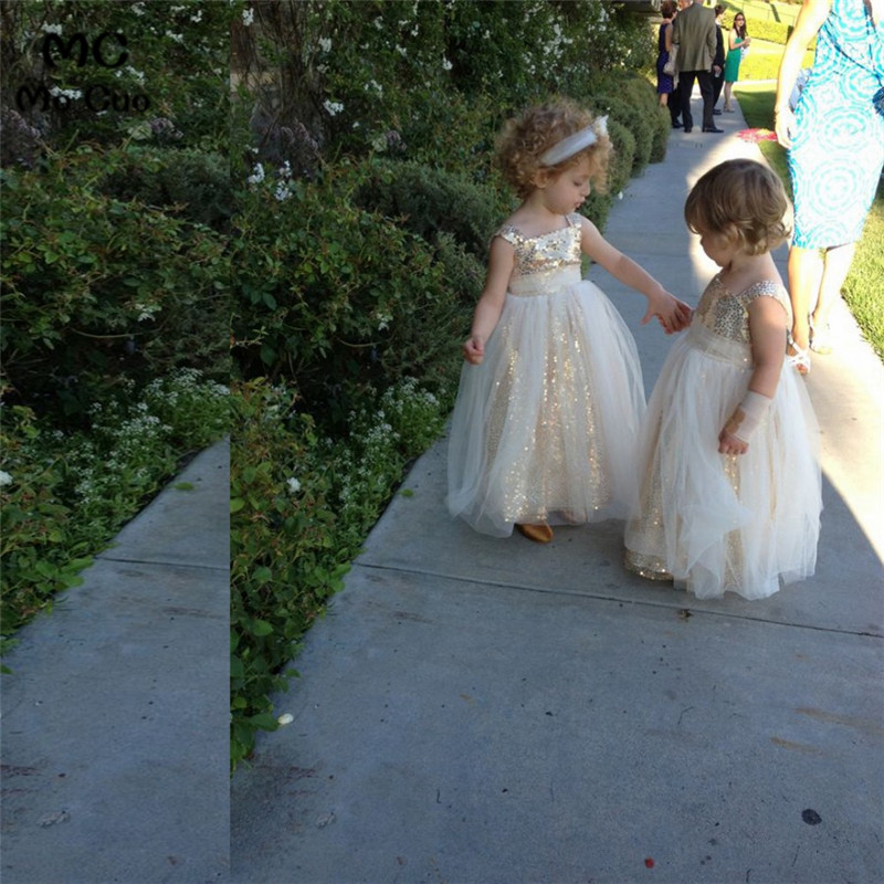 Gold Sequins Pageant   Dresses   For Little   Girls   kids prom   dresses   first communion   dresses   for   girls     Flower     Girl     Dresses
