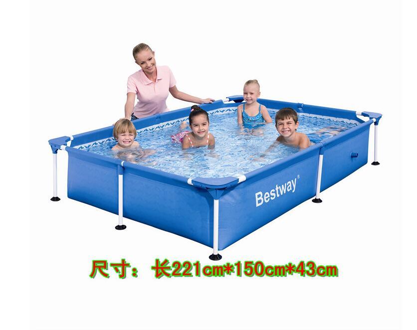 Bestway56040 network folder bracket pool adult pool for Raising fish in a swimming pool