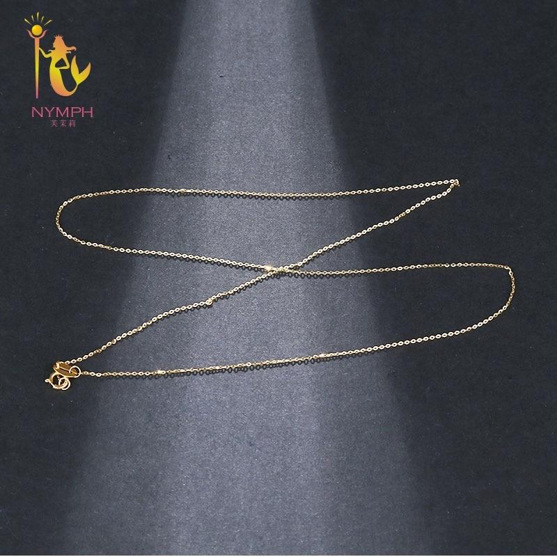 NIMF Echt 18 K Wit Geel Gouden Ketting 18 inches au750 Kostprijs - Fijne sieraden - Foto 4