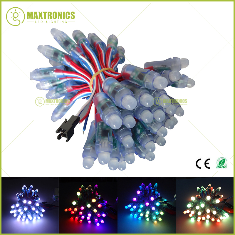 50 pcs/lot 12mm WS2811 2811 IC RGB Led Module String Waterproof DC12V Digital Full Color LED Pixel Light Free shipping fitt ic 1 2 50 idro color