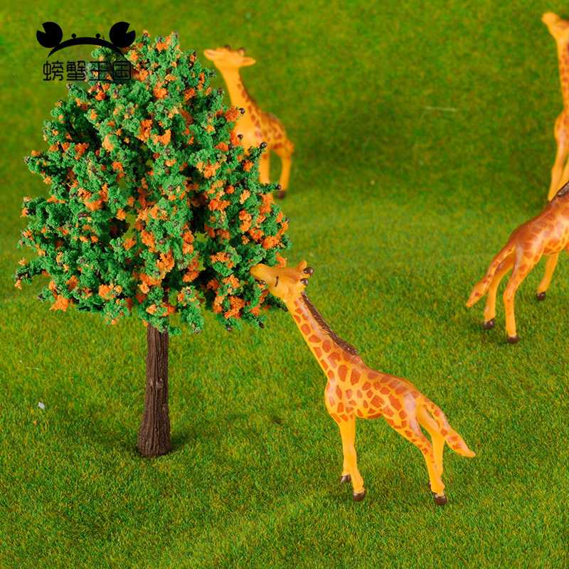 5pcs HO Scale Painted Farm Animals Giraffe Model Railway 1:87 Scale Model Animals Building Kit