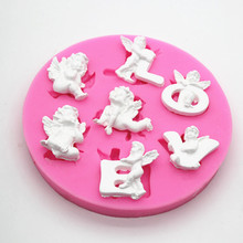 Wholesale DIY LOVE Angel aromatherapy gypsum clay mould cement silicone mold craft wax making tool