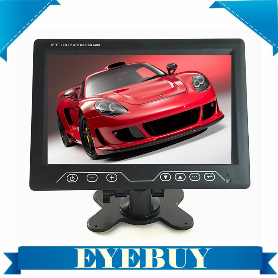 9 inch Universal Super Slim LCD headrest Analog car tv monitor Player DVD with USB SD