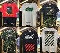 2017 Verano Nueva Moda hip hop street OFF WHITE T-shirt cruces los hombres de impresión de manga Corta de algodón de moda tops camisetas M-XXL 21 estilo