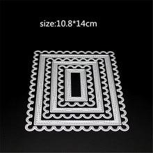 AZSG Square frame Metal Cutting Mold DIY Scrapbook Album Decoration Supplies Clear Stamp Paper Card