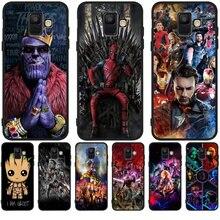 """С подвесками в виде милых с принтами """"Marvel"""", """"Мстители"""", Groot для samsung Galaxy A9 A8 A7 A6 A5 A3 J3 J4 J5 J6 J8 плюс чехол для телефона чехол Coque Etui"""