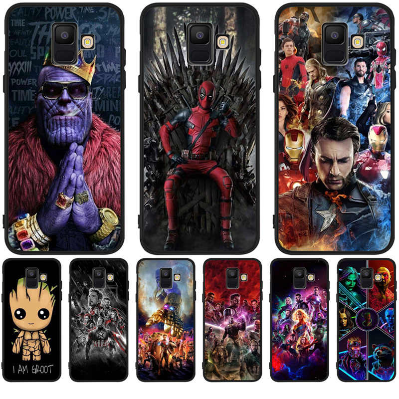 Luxury Cute Marvel Avengers Groot For Samsung Galaxy A9 A8 A7 A6 A5 A3 J3 J4 J5 J6 J8 Plus 2017 2018 phone Case Cover Coque Etui